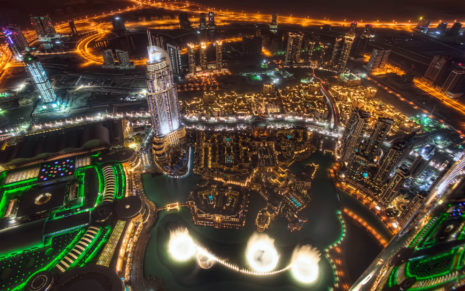Dubai at night HD wallpaper