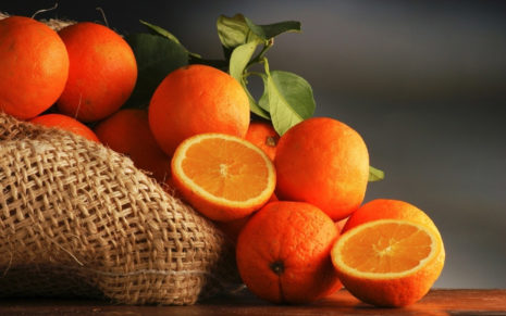 Fresh Oranges HD wallpaper