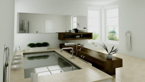 Modern Bathroom Interior HD wallpaper