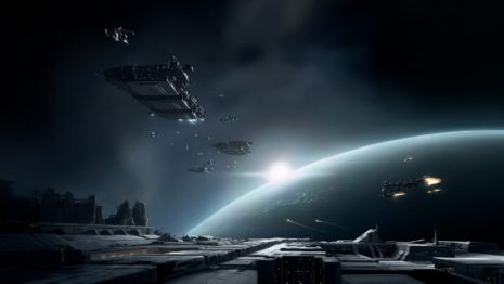 Spaceships on the move HD wallpaper