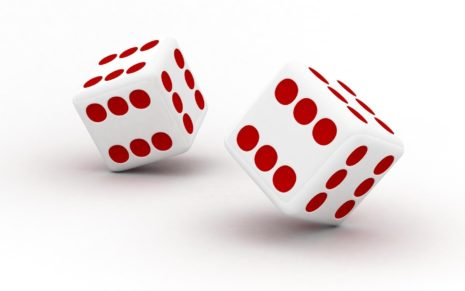 White Dice HD wallpaper
