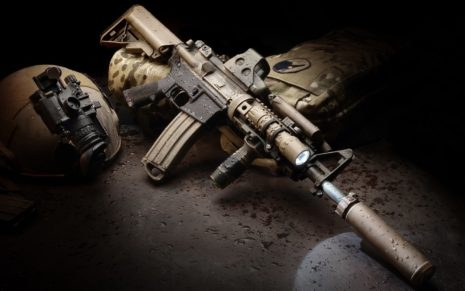 AR-15 gun HD wallpaper