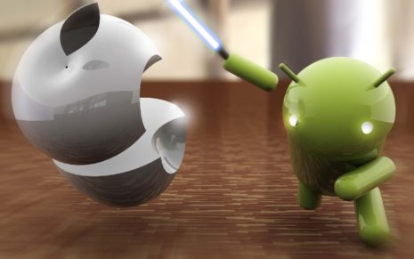 Apple vs Android HD wallpaper