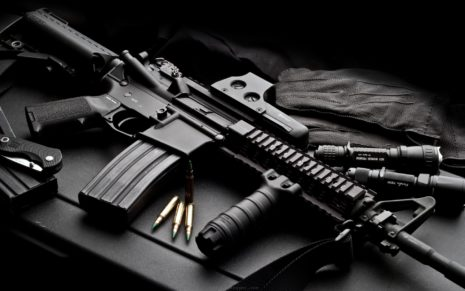Black Assault Rifle HD wallpaper