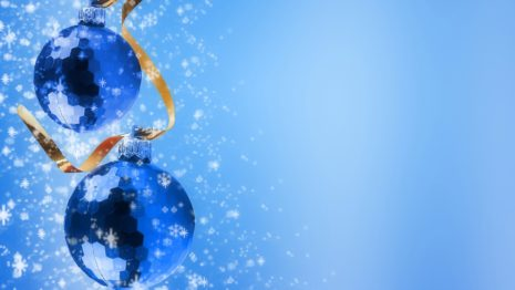 Blue Christmas Tree HD wallpaper