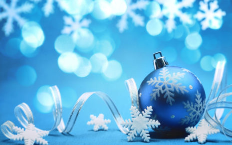 Blue Christmas gifts HD wallpaper