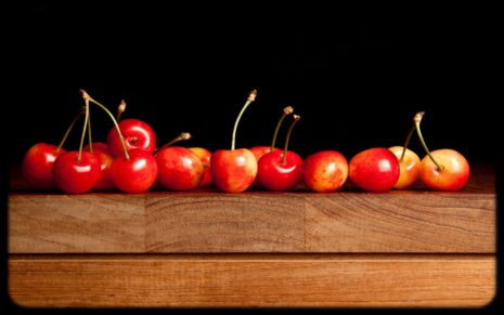 Cherries in line HD wallpaper