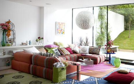 Colorful Living Room HD wallpaper