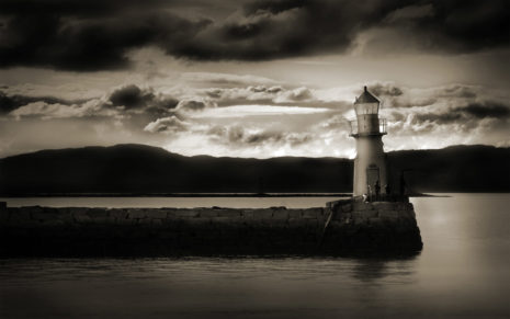 Dark Lighthouse HD wallpaper