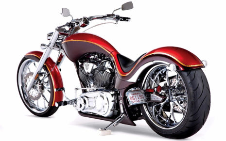 Harley Red Chopper HD wallpaper