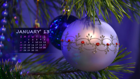 January calendar HD wallpaper
