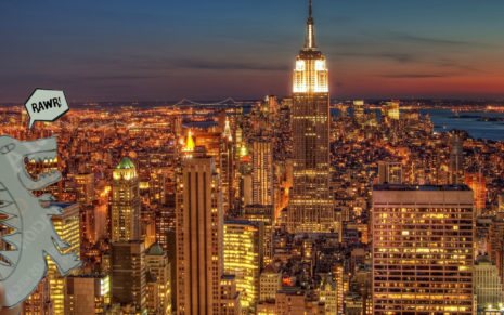 New York full of lights HD wallpaper 1
