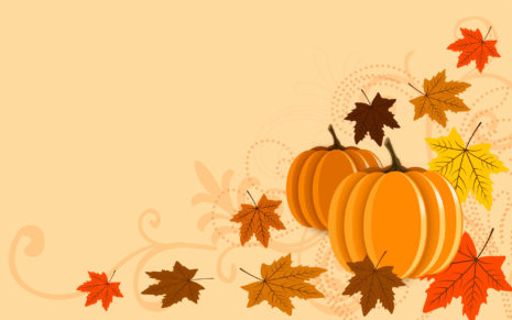 Pumpkins and leaves HD wallpaper