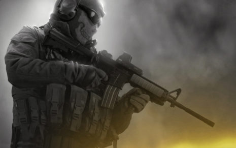 Soldier with M16 HD wallpaper