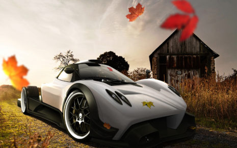 White Pagani Zonda R HD wallpaper
