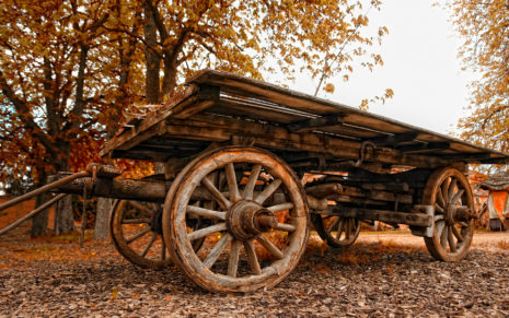 Wood Cart HD wallpaper