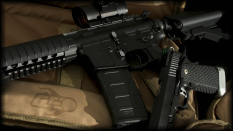 Airsoft Black Rifle HD wallpaper