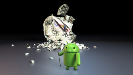 Android conquering Apple HD wallpaper