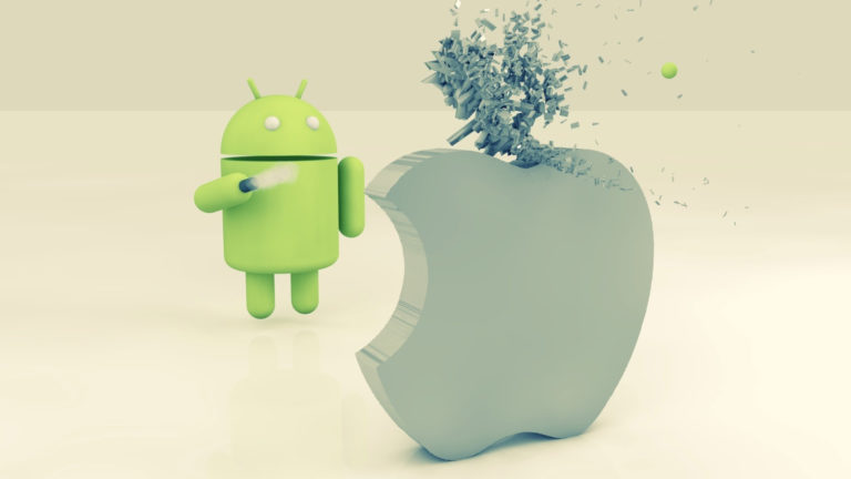 Android splashing apple HD wallpaper