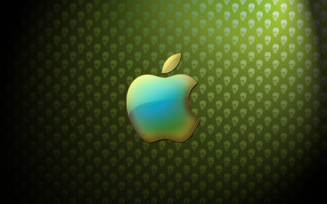 Apple skull art HD wallpaper