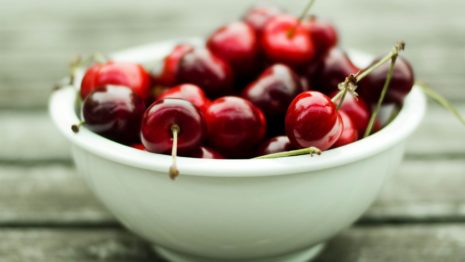 Bowl of Cherries HD wallpaper