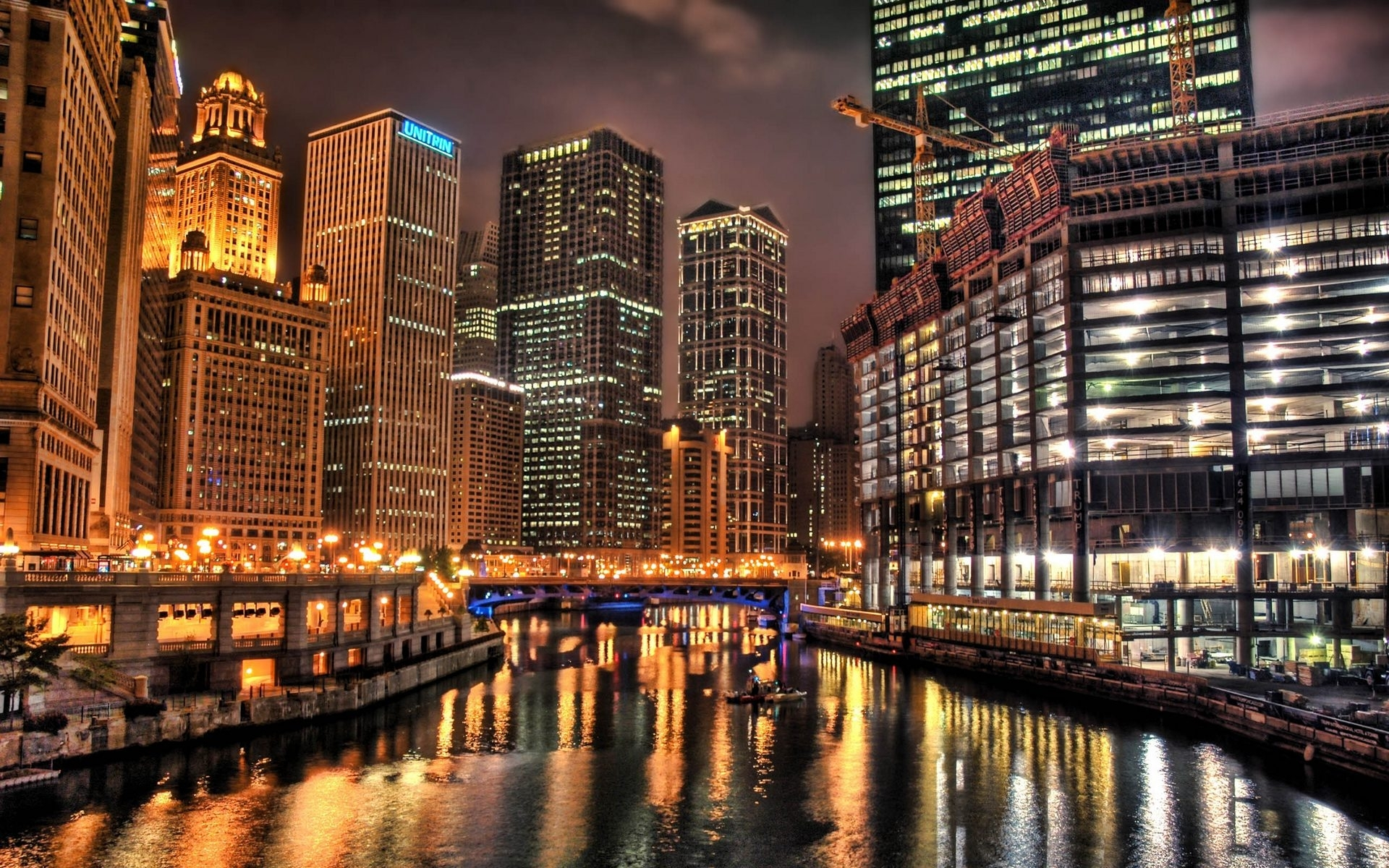 Wonderful Wallpaper Night Chicago - Chicago-at-night-HD-wallpaper  Graphic.jpg