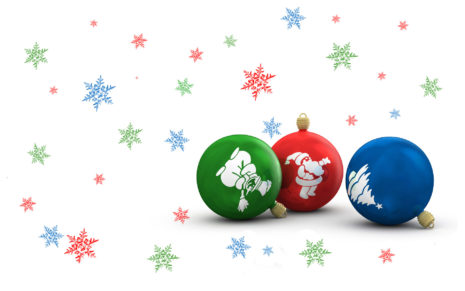 Christmas bulbs HD wallpaper