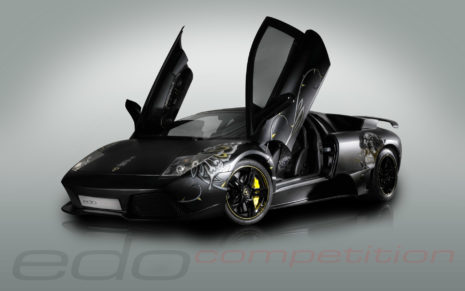 Edo Black Lamborghini HD wallpaper