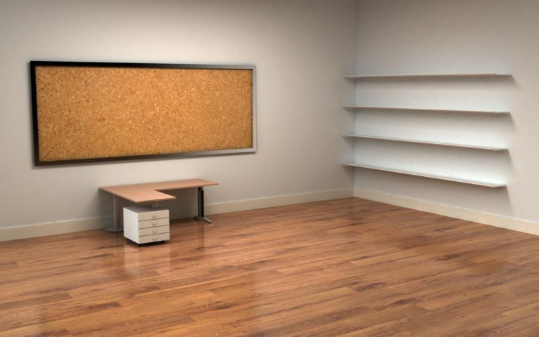 Empty office HD wallpaper