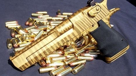 Gold Desert Eagle HD wallpaper