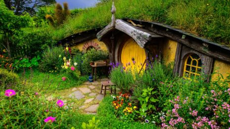 Hobbit Hole HD wallpaper