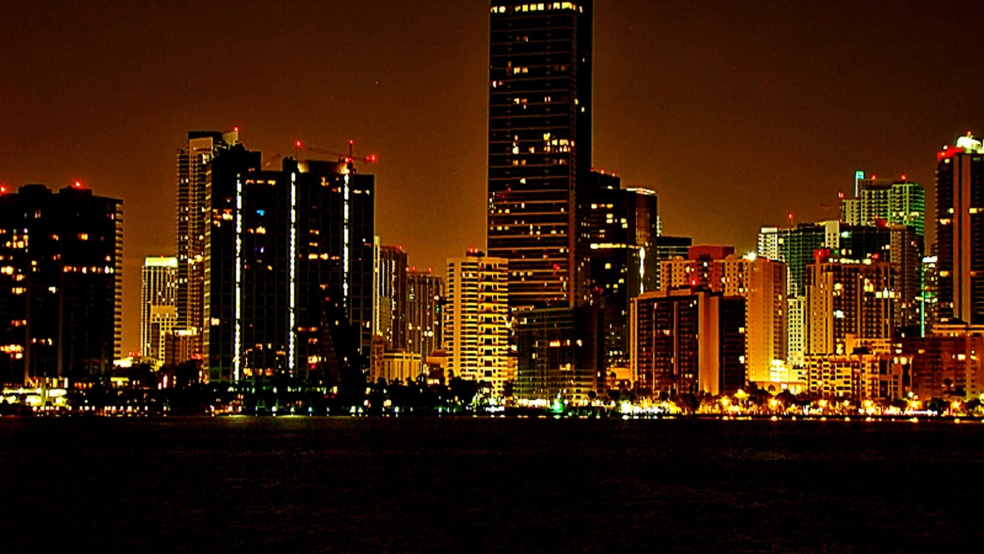 miami beach night hd wallpaper | hd latest wallpapers