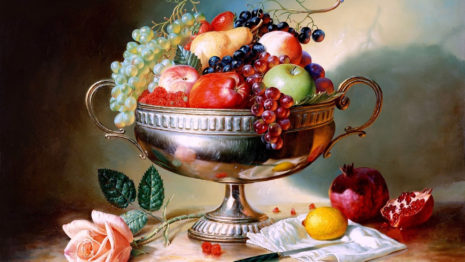 Mix fruits in bowl HD wallpaper