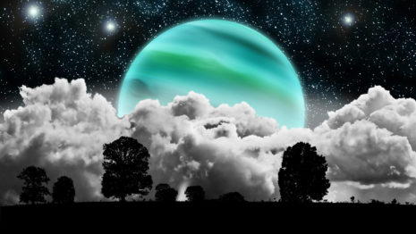 Planet in the clouds HD wallpaper