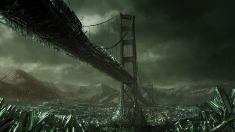 Post apocalyptic bridge HD wallpaper