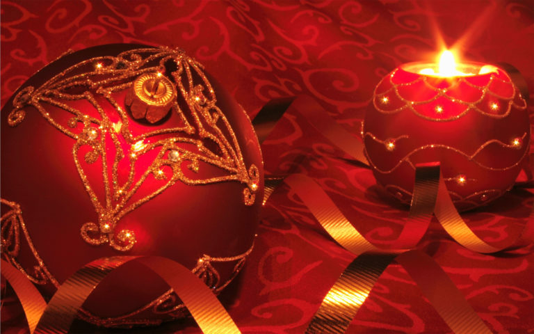 Red Sparkling gifts HD wallpaper