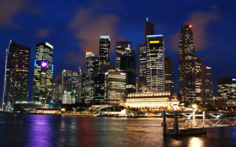 Singapore shinning in night HD wallpaper