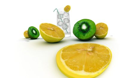 Watery fruits HD wallpaper