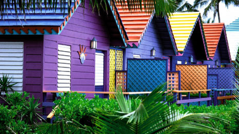 Architecture of Colorful Houses HD wallpaper