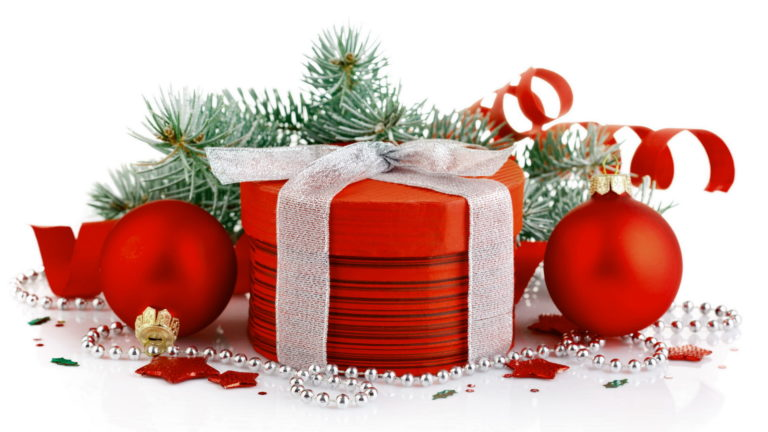 Christmas Red holiday gifts HD wallpaper