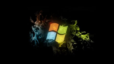 Colorful Flaming Windows 7 HD wallpaper