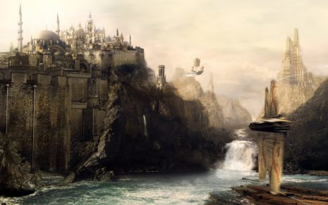 Fantasy Art castles HD wallpaper 1