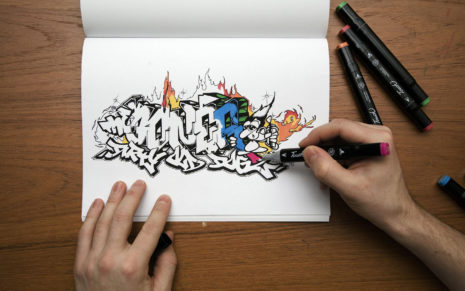 Graffiti coloring HD wallpaper