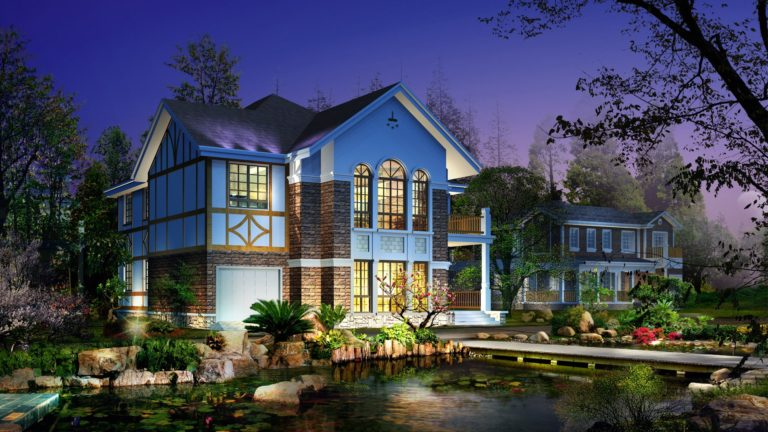 Great home architecture HD wallpaper