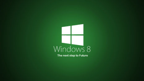Green Windows 8 HD wallpaper