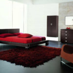 Red Bed with best furniture HD wallpaper
