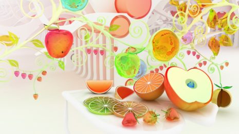 Shining artificial fruits HD wallpaper