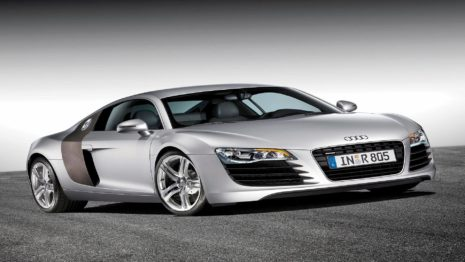 Slim Silver Car HD wallpaper