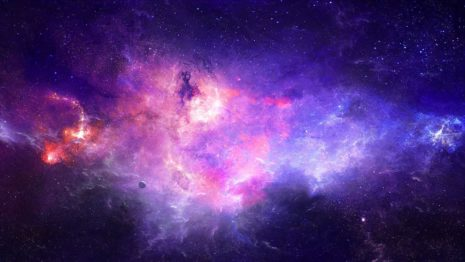 Spectacular Purple galaxy HD wallpaper