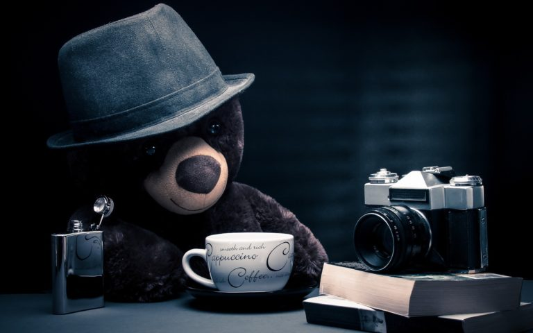 Teddy on a coffee break HD wallpaper